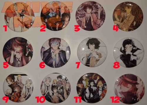 Bungou Stray Dogs Buttons