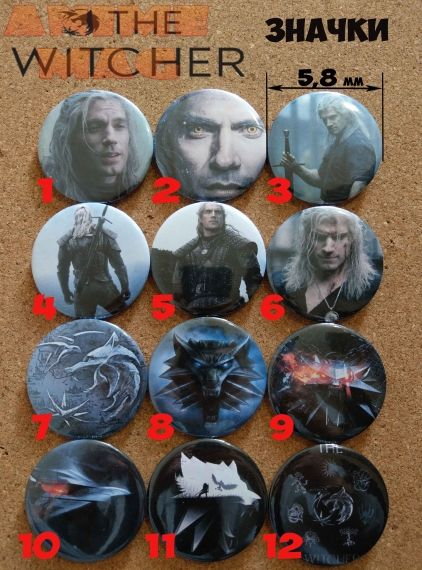 The Witcher Buttons